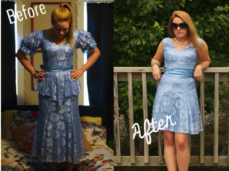 80s Prom Dress Refashion Buttons And Birdcages
